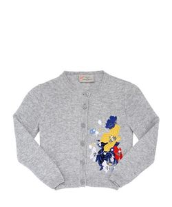 PREEN MINI | Mia Embroidered Wool Blend Cardigan
