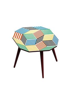 BAZARTHERAPY | Medium Ich Kar Stripes Coffee Table