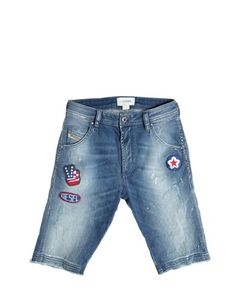 Diesel Kids | Painted Patched Stretch Jeans