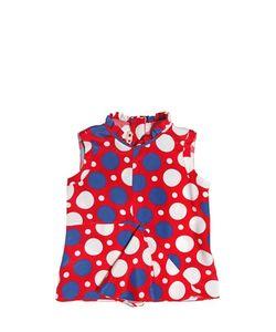 MARNI JUNIOR | Polka Dot Printed Silk Blend Crepe Top