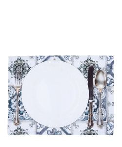 TABLECLOTHS | Maioliche Grigie Set Of 2 Placemats