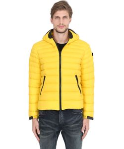 AI RIDERS ON THE STORM   Zip-Up Nylon Micro Ripstop Down Jacket