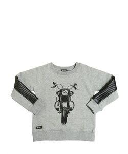YPORQUÉ | Moto Biker Cotton Sweatshirt