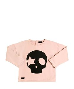 YPORQUÉ | Skull Printed Cotton Sweatshirt