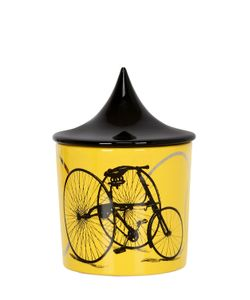 CERAMICA GATTI 1928 | Yellow Bicycle Candle W/ Lid