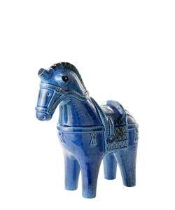 BITOSSI CERAMICHE | Rimini Blu Horse Ceramic Figurine