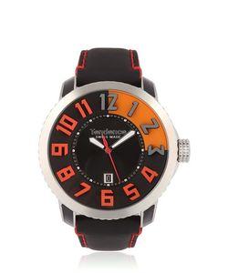 TENDENCE | 3h Steel Black Orange Watch