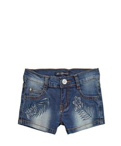 Blumarine Jeans | Embellished Stretch Denim Shorts