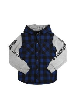 Diesel Kids | Cotton Flannel Sweatshirt Jacket