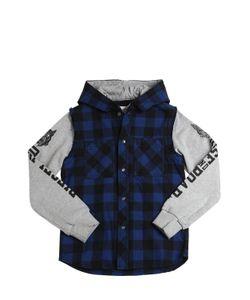 Diesel Kids | Cotton Flannel Sweatshirt Jacket