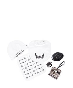 ROCK STAR BABY | Bib Cloth Beanie Pacifier Duck Set