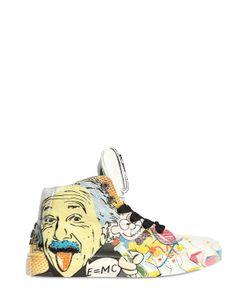 BE KOOL | Einstein Print Leather High Top Sneakers