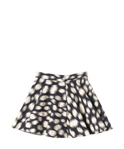 LANVIN PETITE | Spotted Stretch Cotton Satin Skirt