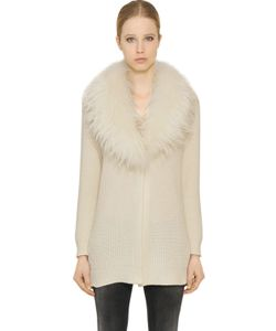 Blugirl | Wool Cashmere Blend Cardigan W/ Fur