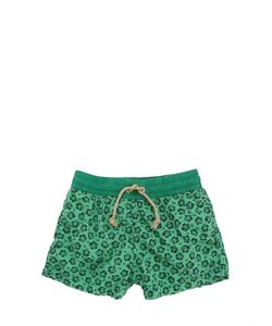 NUPKEET | Floral Printed Cotton Poplin Swim Shorts