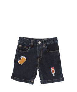 AN ITALIAN THEORY | Patches Stretch Cotton Shorts