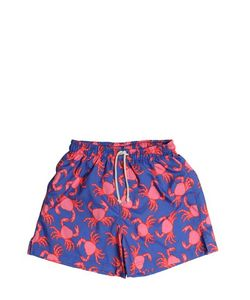 SELINI ACTION | Crab Printed Nylon Swim Shorts