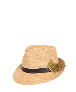 GI'N'GI | Straw Panama Hat With Feathers