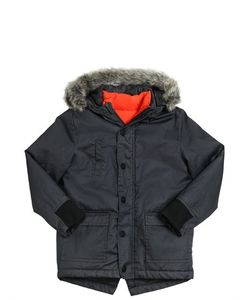 Kenzo Kids | Coated Gabardine Parka Coat Nylon Vest