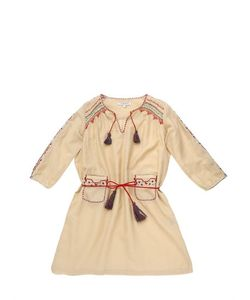 CARAMEL BABY AND CHILD   Embroidered Cotton Silk Satin Dress