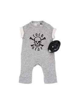 ROCK STAR BABY | Cotton Fleece Romper Rubber Duck Set