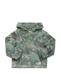 COURAGE&KIND | Jungle Printed Nylon Windbreaker Jacket