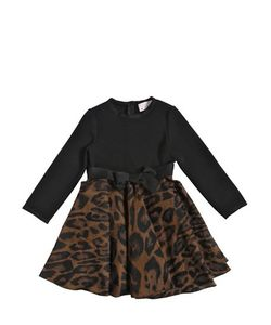 LANVIN PETITE | Knitted Techno Leopard Jacquard Dress