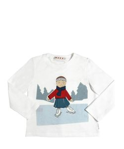 MARNI JUNIOR | Ice Skater Printed Cotton Jersey T-Shirt