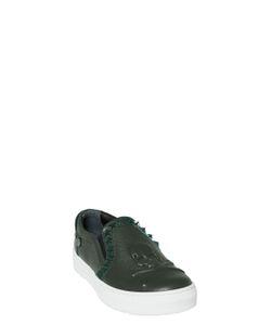 PHILIPP PLEIN JUNIOR   Stud Embossed Leather Slip-On Sneakers