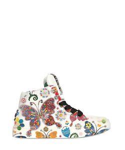 BE KOOL | Butterflies Leather High Top Sneakers