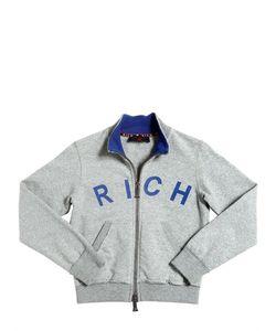 RICHMOND JUNIOR | Rich Printed Cotton Zip-Up Sweatshirt