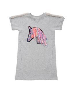 ANNE KURRIS | Horse Patch On Cotton Sweatshirt Dress