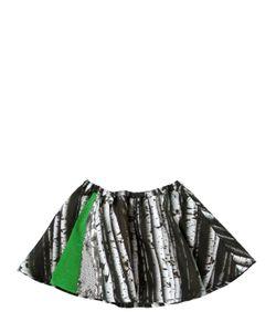 ANNE KURRIS | Digital Print Silk Satin Round Skirt