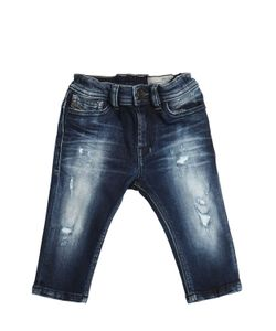 Diesel Kids | Destroyed Stretch Cotton Jeans