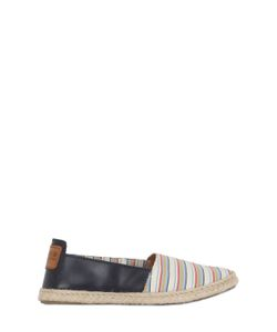 Florens | Striped Cotton Leather Espadrilles