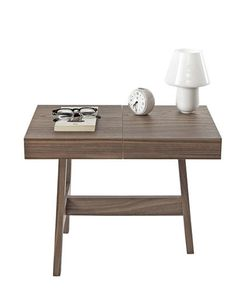 INTERNOITALIANO | Noci Solid Wood Marble Side Table