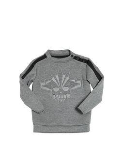 HYDROGEN KID | H-Robot Embossed Neoprene Sweatshirt