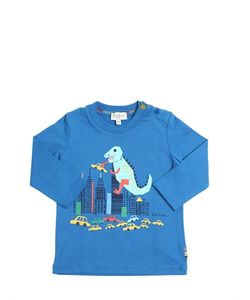 Paul Smith Junior | T-Rex Printed Cotton Jersey T-Shirt