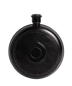 LARUSMIANI | Lorenzi Leather Flask W/ Shot Glass