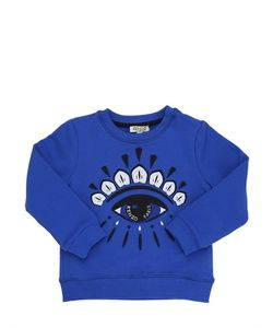 Kenzo Kids | Embroidered Logo Patch Cotton Sweatshirt