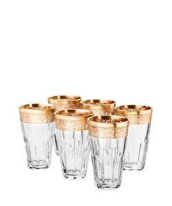 MARIO CIONI | Set Of 6 Crystal Shot Glasses