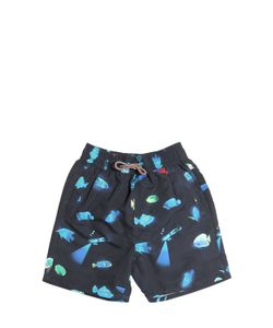Paul Smith Junior | Fish Diver Print Nylon Swimming Shorts