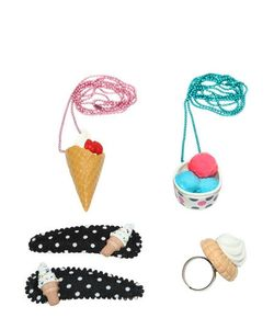 POP CUTIE | Ice Cream Ring Necklaces Hairclips Set