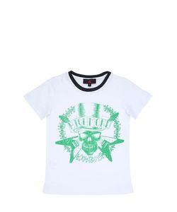 RICHMOND JUNIOR | Skull Printed Cotton Jersey T-Shirt