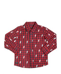 YPORQUÉ | Lightning Plaid Cotton Twill Shirt