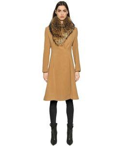 AVA ADORE   Camel Coat With Murmasky Fur