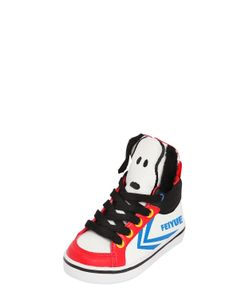 Feiyue | Snoopy Printed Faux Leather Sneakers