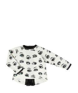 JAKIOO | Eyes Printed Cotton Sweatshirt