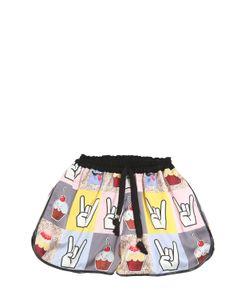 Venera Arapu | Digitally Printed Silk Satin Shorts