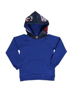 ANNE KURRIS | Hooded Printed Cotton Fleece Sweatshirt